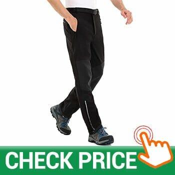 Clothin Men's Softshell Fleece-Lined Cargo Pants
