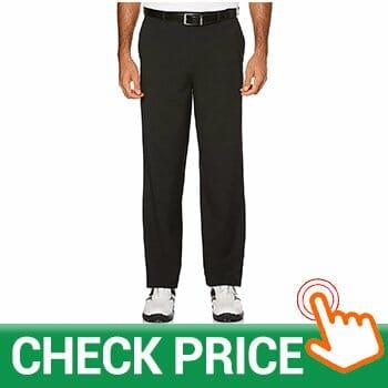 PGA TOUR Men's Flat Front Golf Pant with Expandable Waistband