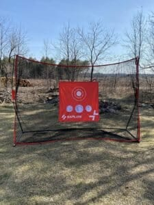 SAPLIZE Golf Net with Hitting Mat, High Impact view