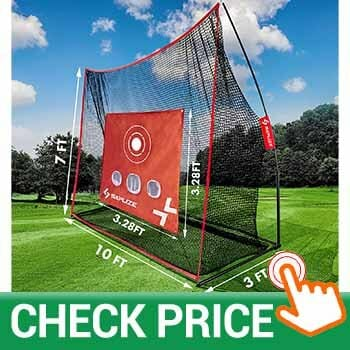 SAPLIZE Golf Net with Hitting Mat, High Impact